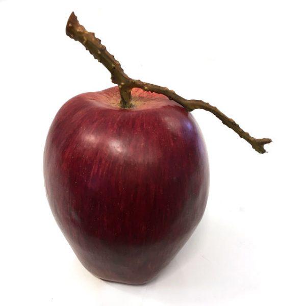Kunstig eple m/kvist rødt Ø8xH9cm *SALG