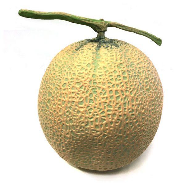 Kunstig melon cantaloupe 15cm *SALG