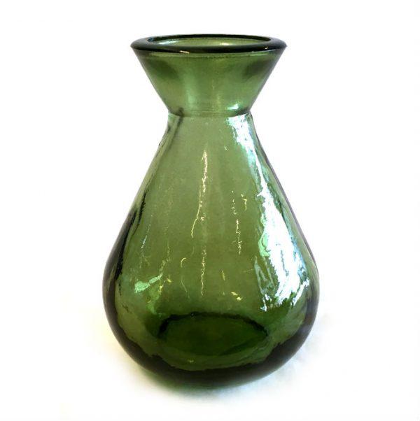 Glassvase grønn H11cm *SALG