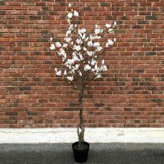 Kunstig magnoliatre hvit H210cm
