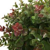 Kunstig eucalyptus ball m/stamme rød/grønn H85cm *SALG