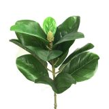 Kunstig magnolia blader gren grønn 70cm