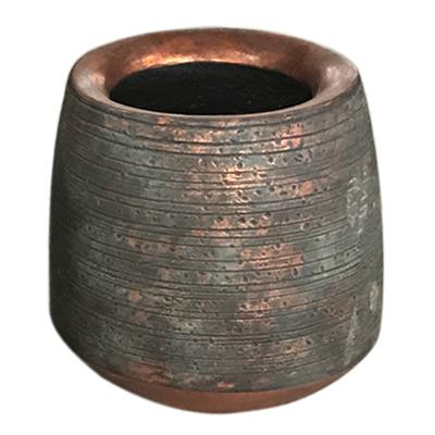 Potte inca light cement kobber Ø38xH38cm *SALG