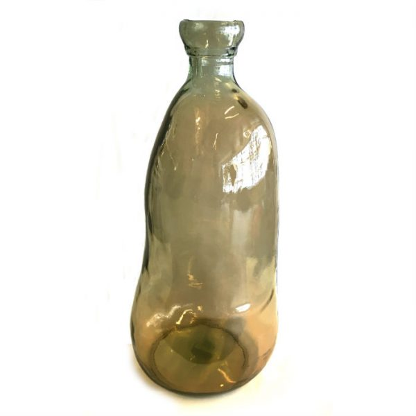 Glassvase røk H51cm