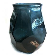 Glassvase/lyslykt origami natt H19cm
