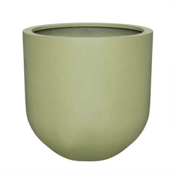 Potte rund poly grønn Ø50xH50cm *SALG