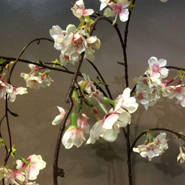 Kunstig kirsebærblomst gren hengende rosa 140cm