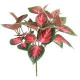 Kunstig begonia plante burgunder H30cm u/potte *SALG