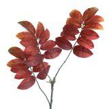 Kunstig ask gren m/store røde blader 120cm