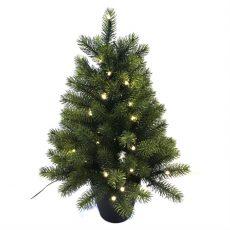 Kunstig juletre gran H60cm m/lys ute/inne