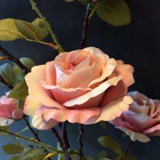 Kunstig rose gren gigant støvfersken 150cm