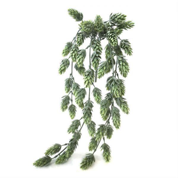 Kunstig humle hengeplante støvgrønn 55cm u/potte
