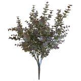 Kunstig eucalyptus plante rød H50cm u/potte