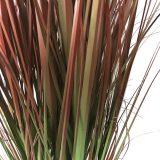 Kunstig gress plante rød H118cm
