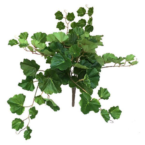 Kunstig geranium plante grønn UV 48cm u/potte