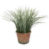 Kunstig gress plante støvgrønn H29cm m/potte