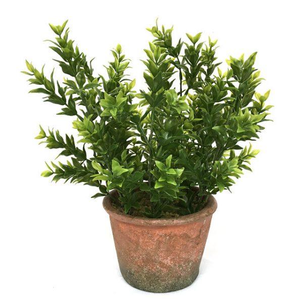 Kunstig boxwood plante mini H28cm m/potte