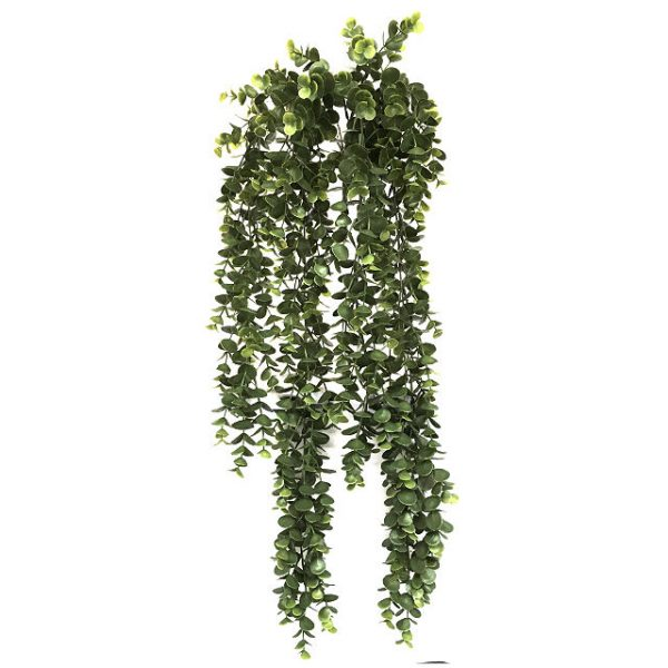 Kunstig eucalyptus hengeplante mørk grønn L79cm u/potte