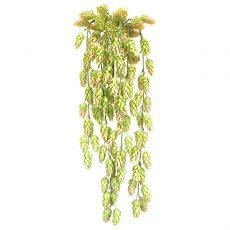 Kunstig humle hengeplante grønn/lys rosa L71cm u/potte