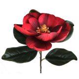 Kunstig magnolia gigant rød Ø23x78cm