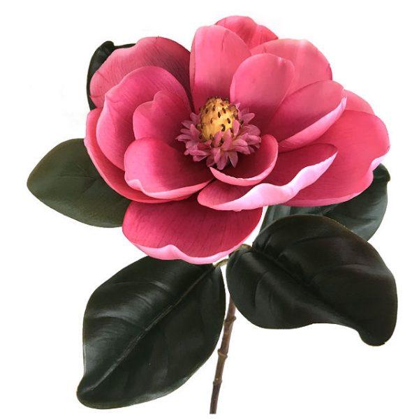 Kunstig magnolia gigant rosa Ø23x78cm
