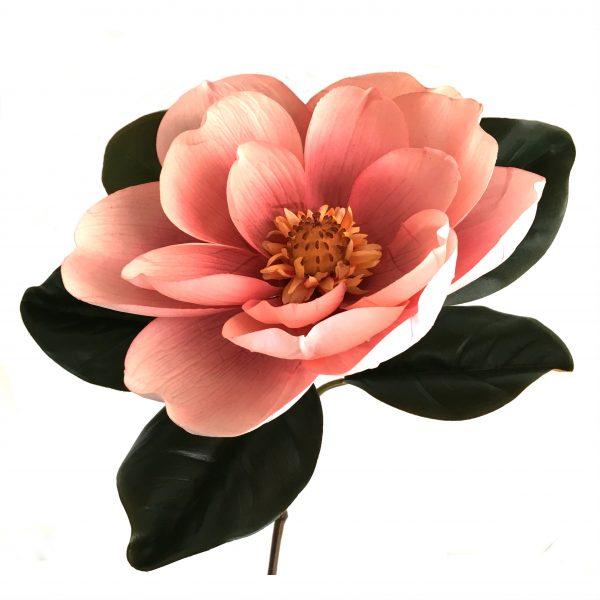 Kunstig magnolia gigant lys rosa Ø23x78cm
