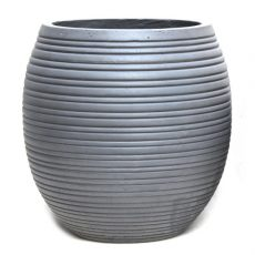 Potte riller light cement grå Ø45xH46cm *SALG