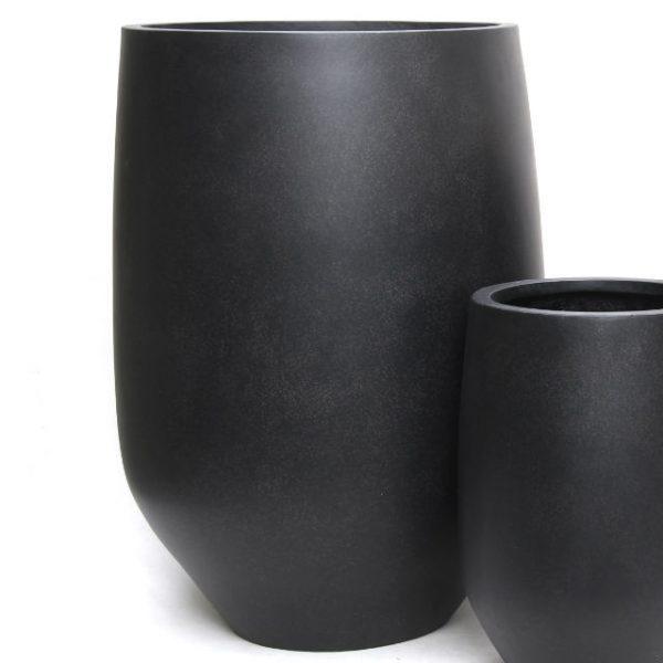 Potte Hanoi poly sort Ø57xH80cm