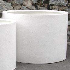 Potte mega cylinder poly hvit Ø113xH80cm