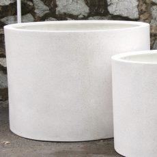 Potte mega cylinder poly hvit Ø100xH70cm