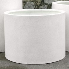 Potte mega cylinder poly hvit Ø87xH63cm