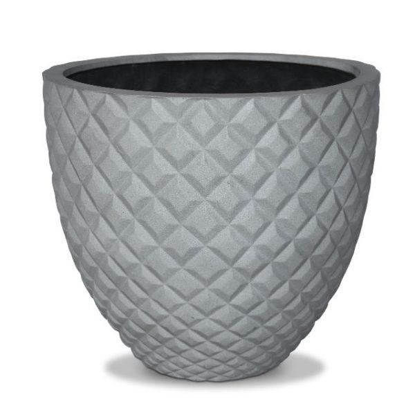 Potte kongle poly grå Ø50xH45cm