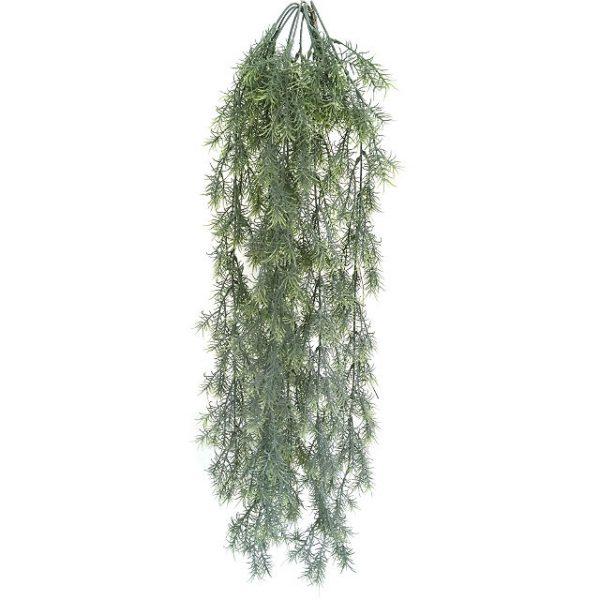 Kunstig springeri hengeplante grå/grønn L80cm u/potte