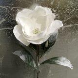 Kunstig magnolia m/snø hvit 74cm