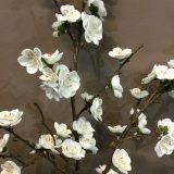 Kunstig epleblomst gren hvit 78cm