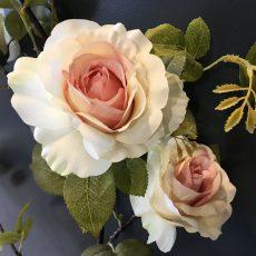 Kunstig rose gren gigant creme/rosa 150cm