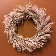 Kunstig krans feather støvrosa Ø63cm