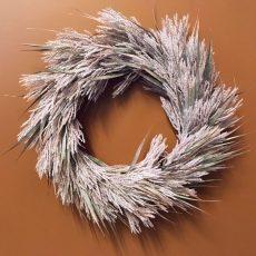 Kunstig krans feather støvlilla Ø58cm