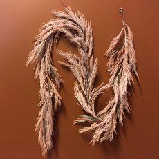 Kunstig girlander feather støvrosa L182cm