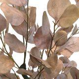 Kunstig eucalyptustre støvrosa H140cm