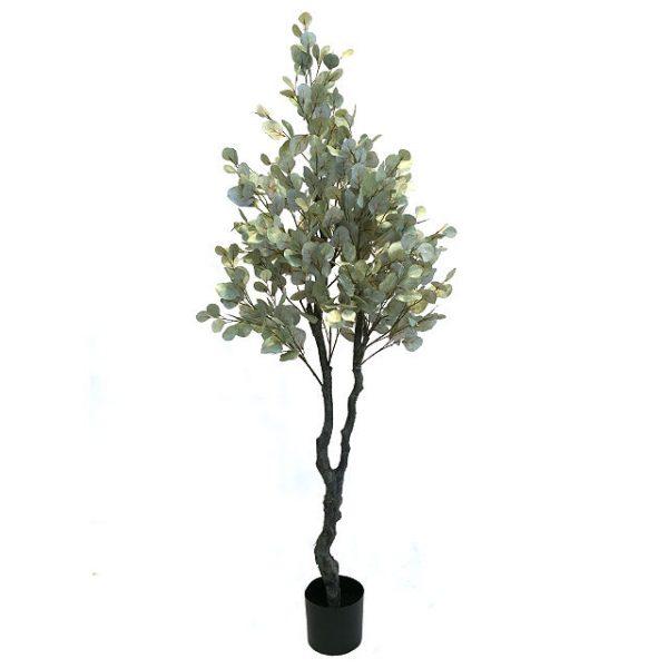Kunstig eucalyptustre støvgrønn H190