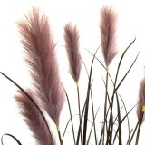 Kunstig gress plante pampas purpur H175cm