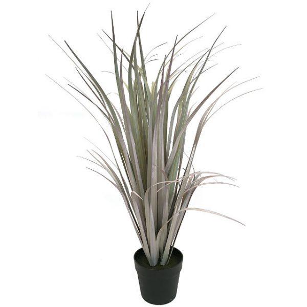 Kunstig gress plante siv støvlilla H84cm