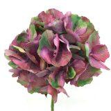 Kunstig hortensia lux psykedelisk lilla 90cm