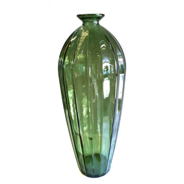 Glassvase etnico grønn Ø22xH56cm
