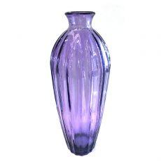 Glassvase etnico lilla Ø12xH28cm