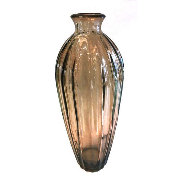 Glassvase etnico gyllen Ø12xH28cm