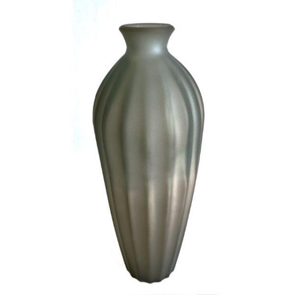 Glassvase etnico frostet sot Ø12xH28cm
