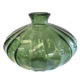 Glassvase etnico grønn Ø19xH14cm