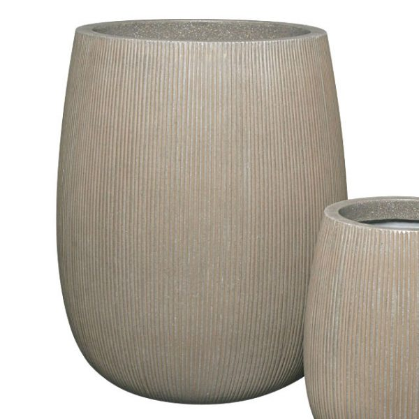 Potte stone vertical ficonstone gråbrun Ø54xH66cm